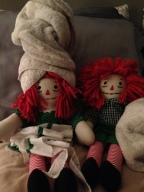 I thought if the child who lost the dolls saw this photo it would lighten their saddened heart.  Here they are fresh out of the washer drying up.